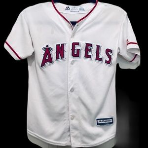 Anaheim Angels 27 Mike Trout Jersey Med 10-12 MLB